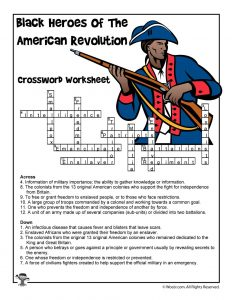 Black Heroes of the Revolutionary War Crossword Puzzle Answer Key