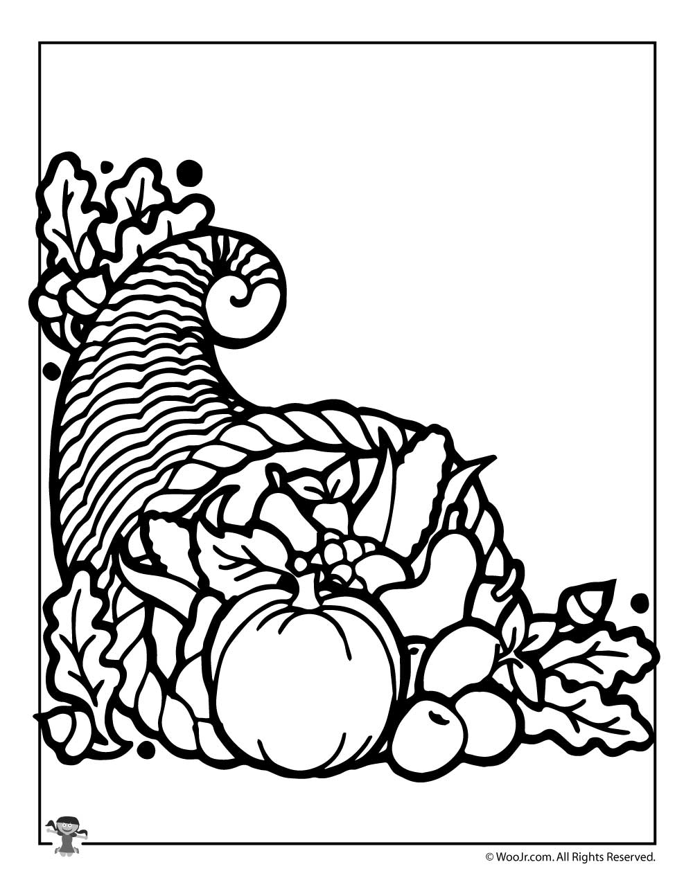 sharethis copy and paste - Cornucopia Coloring Page