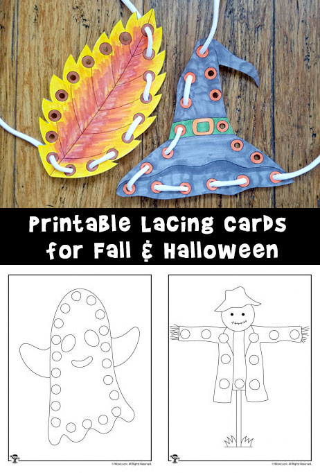 Lacing Cards for Fall and Halloween