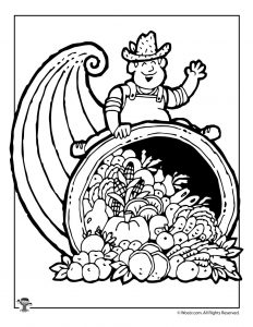 Farmer's Harvest Coloring Page