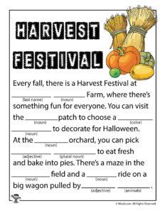 Harvest Festival Ad Lib