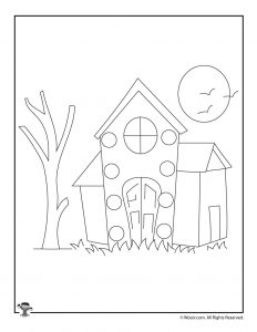 Haunted House Lacing Card