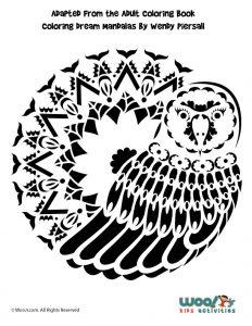 Snowy Owl Pumpkin Stencil
