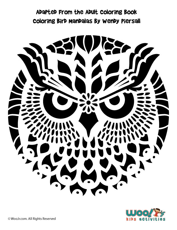 Intricate owl mandala pumpkin pattern woo jr kids