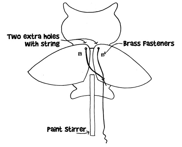 Owl Puppet Diagram