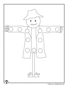 Scarecrow Lacing Card