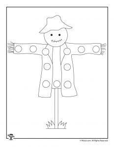 Scarecrow Lacing Card