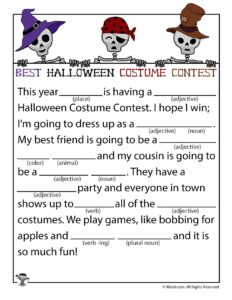 Best Halloween Costume Contest Ad Lib