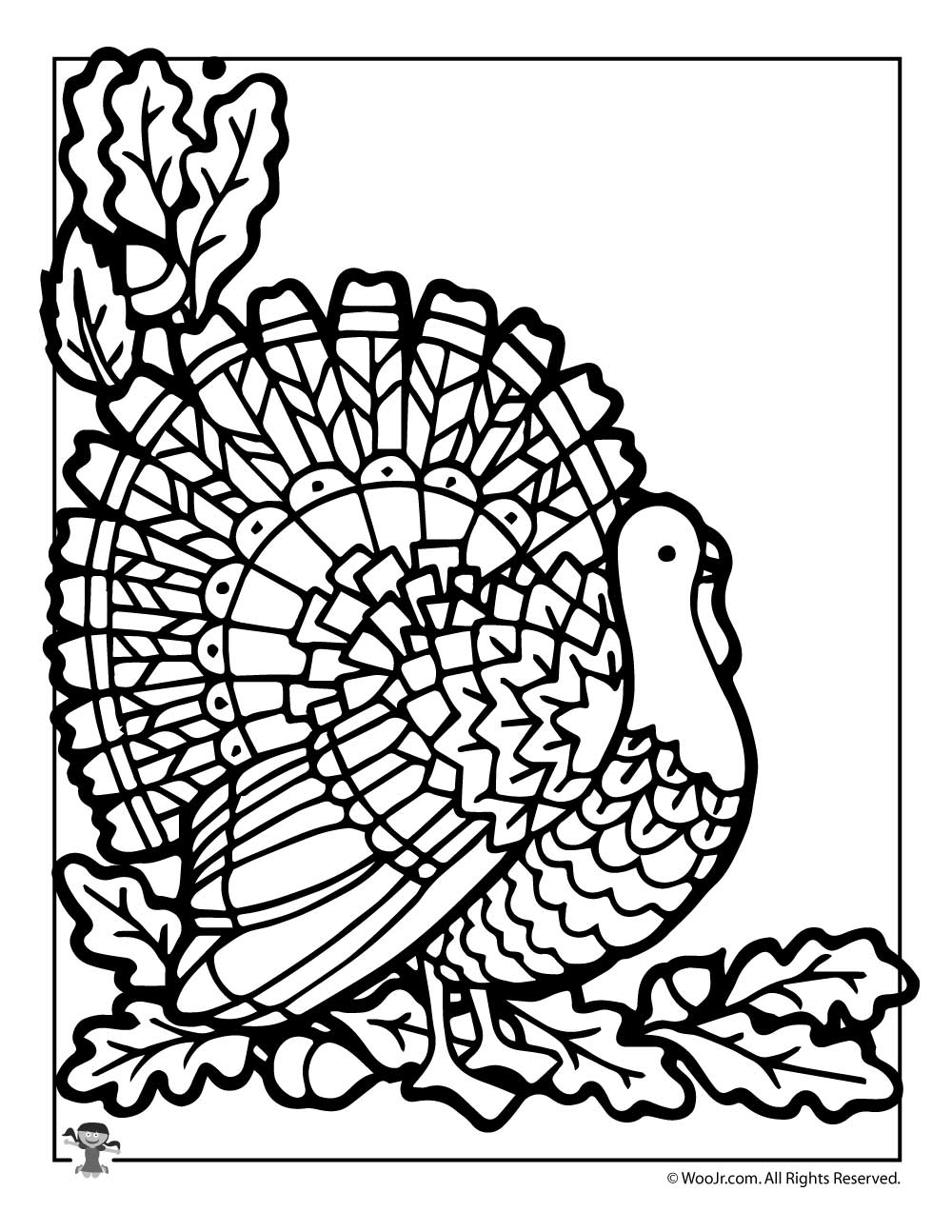 - Thanksgiving Turkey Coloring Page Woo! Jr. Kids Activities