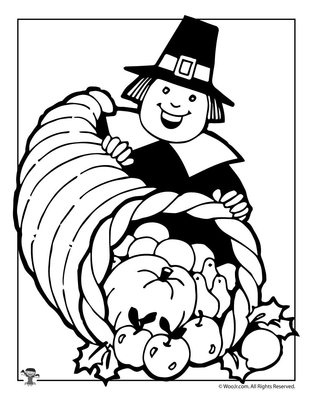 Thanksgiving Pilgrim Coloring Page | Woo! Jr. Kids Activities
