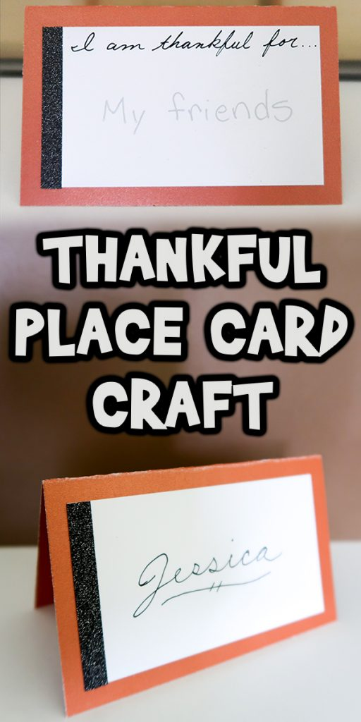 """I am Thankful For..."" Place Card Craft"