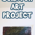 Crayon Scratch Art Project