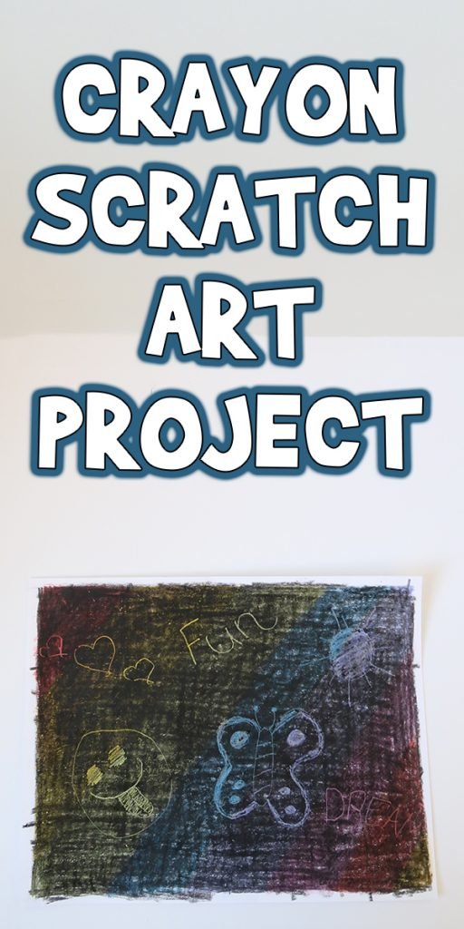 Crayon Scratch Art Project