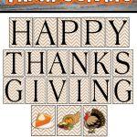 Happy Thanksgiving Printable Banner Set