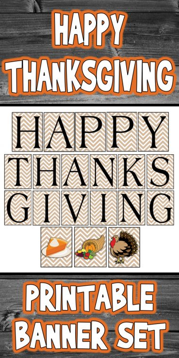 Dashing image pertaining to happy thanksgiving banner printable