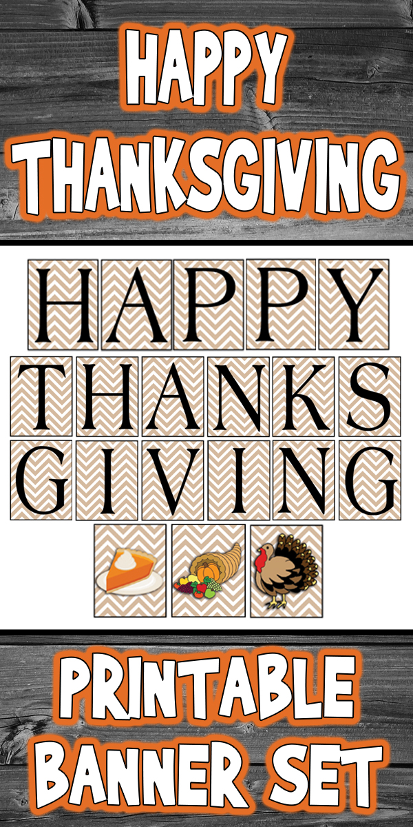 Happy Thanksgiving Printable Banner
