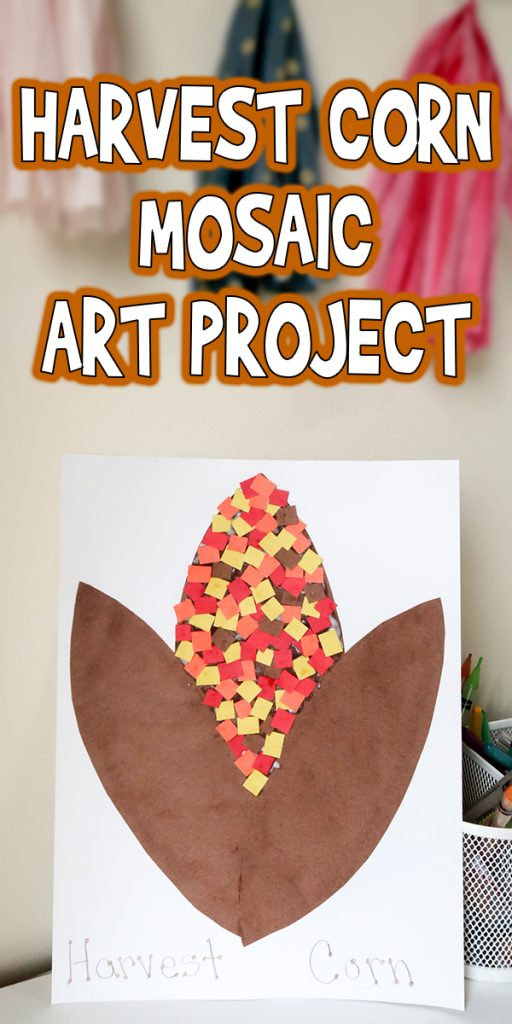 Harvest Corn Mosaic Art Project