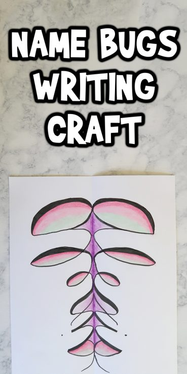 Cursive Lettering Art: Name Bugs Writing Craft
