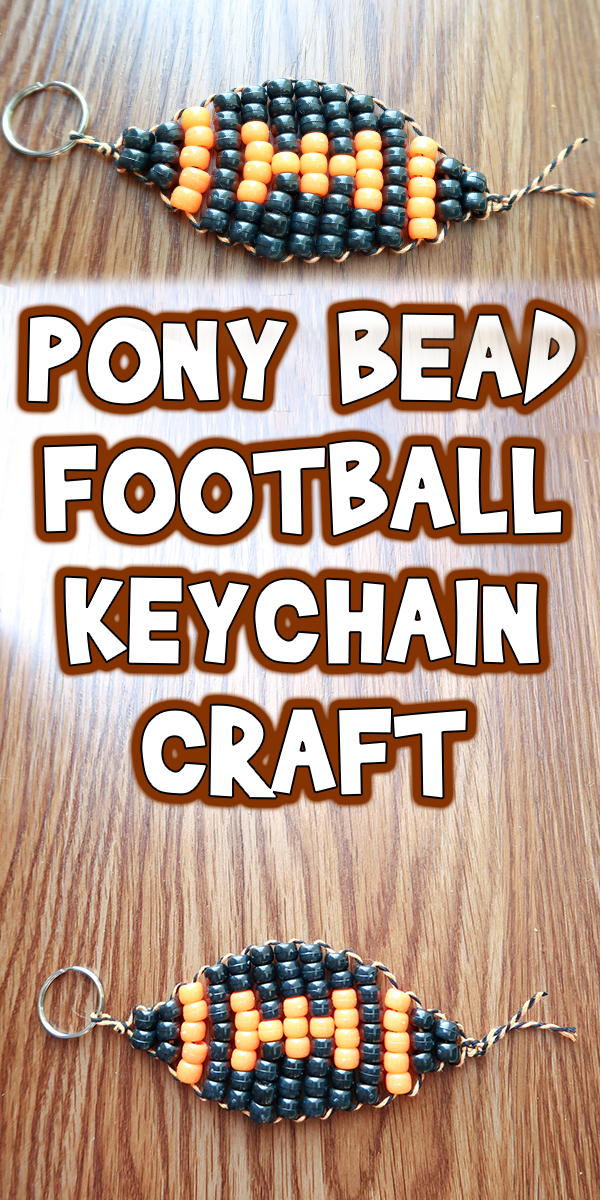 Pony Bead Football Keychain Craft on preschool activities worksheets