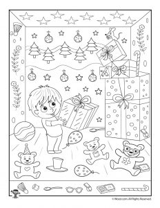 Christmas Gifts Hidden Picture Printable Activity