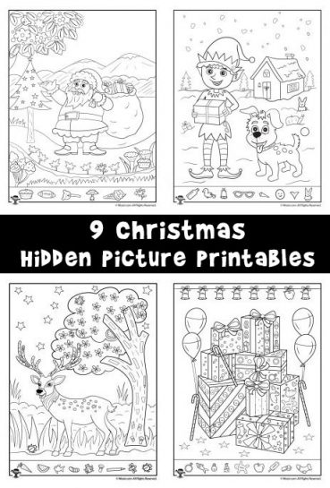 Christmas Hidden Picture Printables for Kids