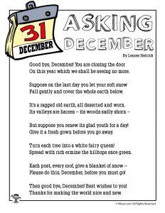 Asking December Poem for Kids