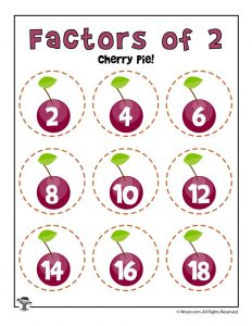 Cherry Pie - Factors of 2