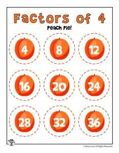 Peach Pie - Factors of 4