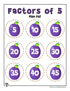 Plum Pie - Factors of 5