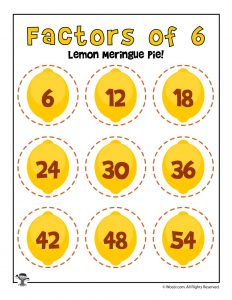 Lemon Meringue Pie - Factors of 6