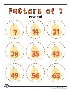 Pear Pie - Factors of 7