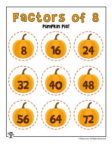 Pumpkin Pie - Factors of 8