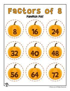 Pumpkin Pie - Factors of 8