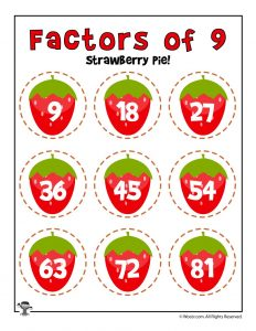 Strawberry Pie - Factors of 9