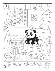 happy panda xmas hidden picture page