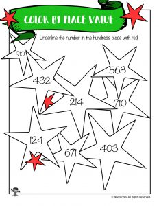 Stars Place Value Worksheet