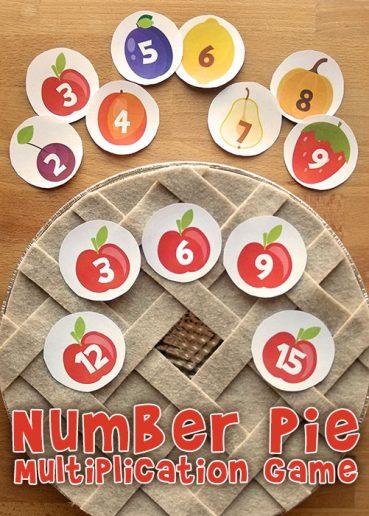 Number Pie Printable Multiplication Game