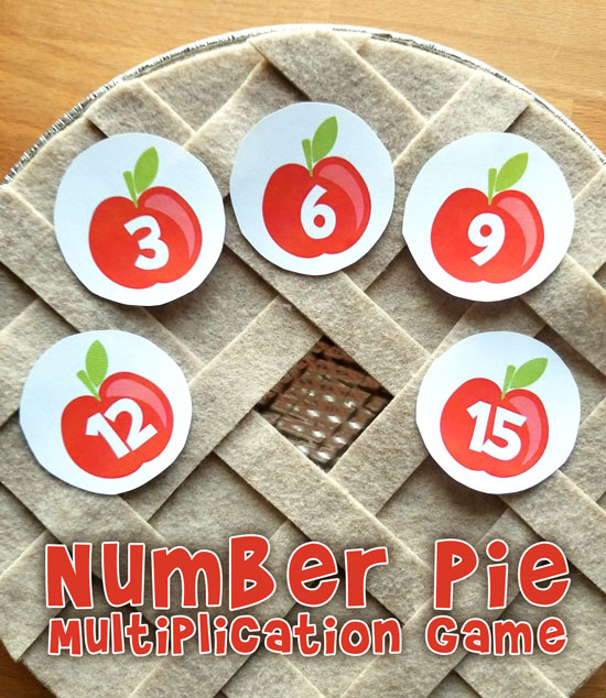 Numbers Pie Multiplication Factors Game Printable