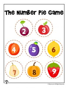 Number Pie Fruit Reference Chart