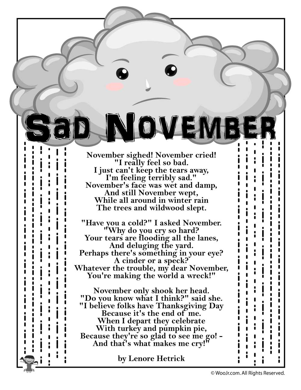 Sad November Poem Woo Jr Kids Activities