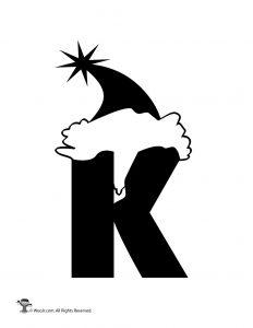 Santa Letter K