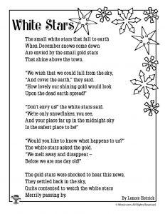 White Stars Children's Poem About Snow