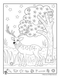 Christmas Reindeer Find the Item Activity