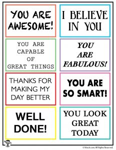 graphic relating to Kindness Cards Printable named Random Act of Kindness Printable Notes Woo! Jr. Youngsters
