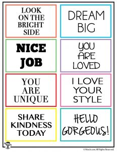 graphic regarding Kindness Cards Printable known as Random Act of Kindness Printable Notes Woo! Jr. Little ones
