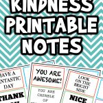 Random Act of Kindness Printable Notes