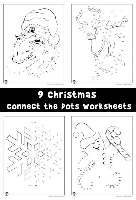 9 Christmas Connect the Dots Worksheets