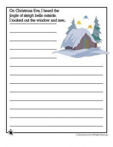 Christmas Writing Prompts.15 Printable Christmas Writing Prompts For Kids Woo Jr