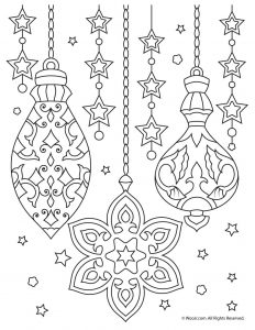 Christmas Ornaments Adult Coloring Printable