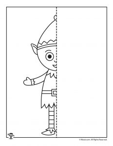 Christmas Elf Finish the Picture Worksheet